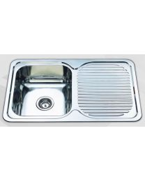 Sink - Single Bowl + Drainer 355x405
